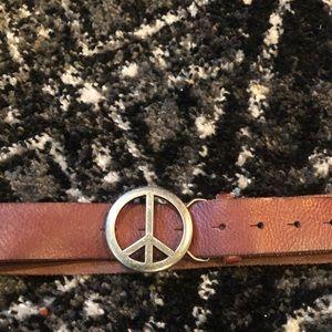 Peace sign belt